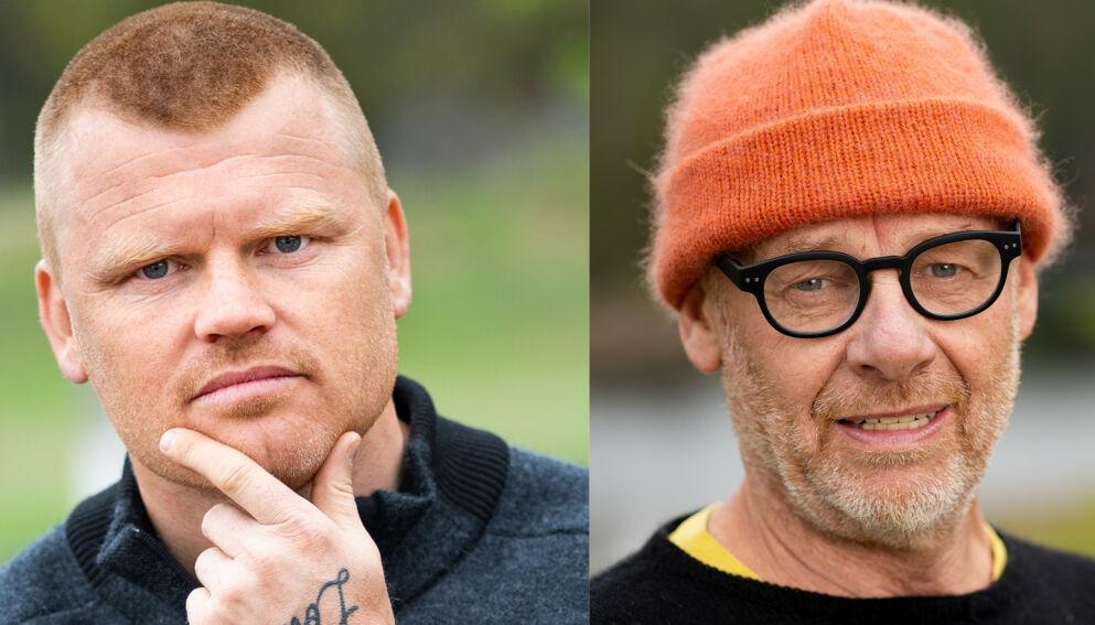 DÅRLIG STEMNING: John Arne Riise (40) og Espen Rustad Thoresen (62) ble ikke akkurat perlevenner inne på «Farmen kjendis»-gården. Foto: Alex Iversen / TV 2