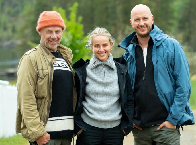 I FULL SVING: Espen Thoresen, Anniken Jørgensen og Terje Sporsem deltar alle i vinterens «Farmen kjendis». Foto: Alex Iversen / TV 2