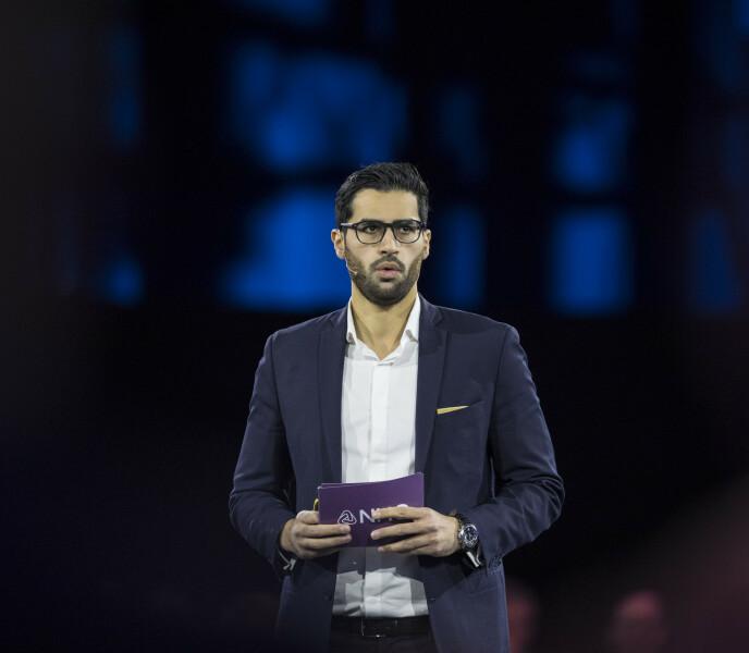 IMPONERENDE CV: Javad Mushtaq har en lang liste over nåværende stillinger. Her avbildet i 2018 under NHOs årskonferanse. Foto: Vidar Ruud / NTB