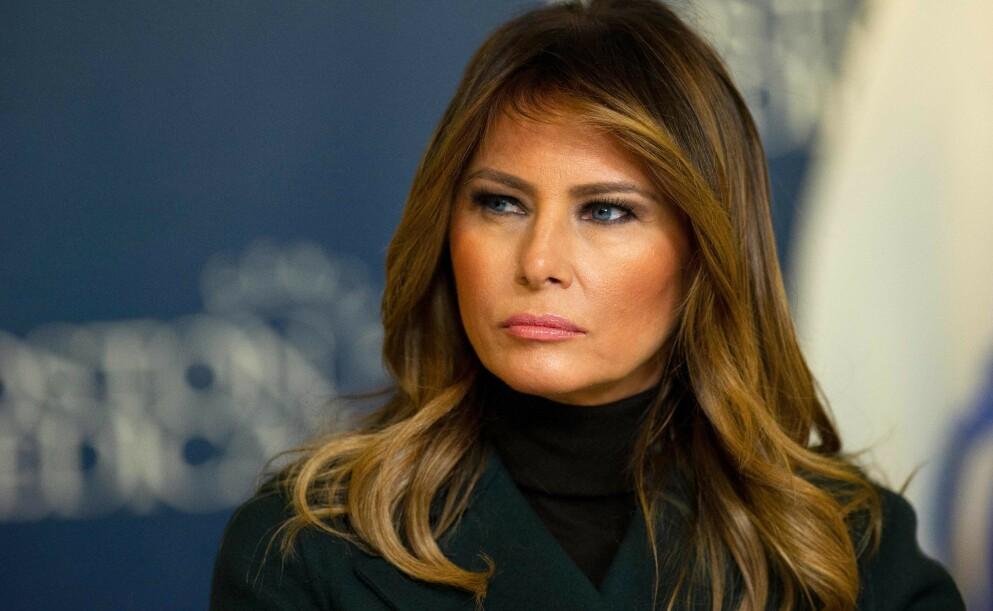KRITISERES: Etter å ha vært stille i flere dager etter angrepet på Kongressen forrige uke, brøt Melania Trump tausheten mandag denne uka. Uttalelsen har hun nå havnet i hardt vær for. Foto: Joseph Prezioso / AFP / NTB