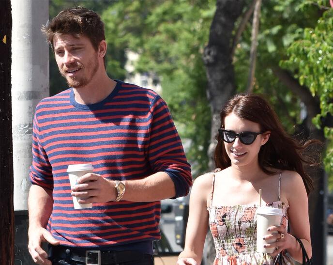 BABYLYKKE: Skuespilleren Garrett Hedlund (36) og Emma Roberts (29) fikk barn, kun ett år etter dating. Foto: Broadimage/Shutterstock/NTB.