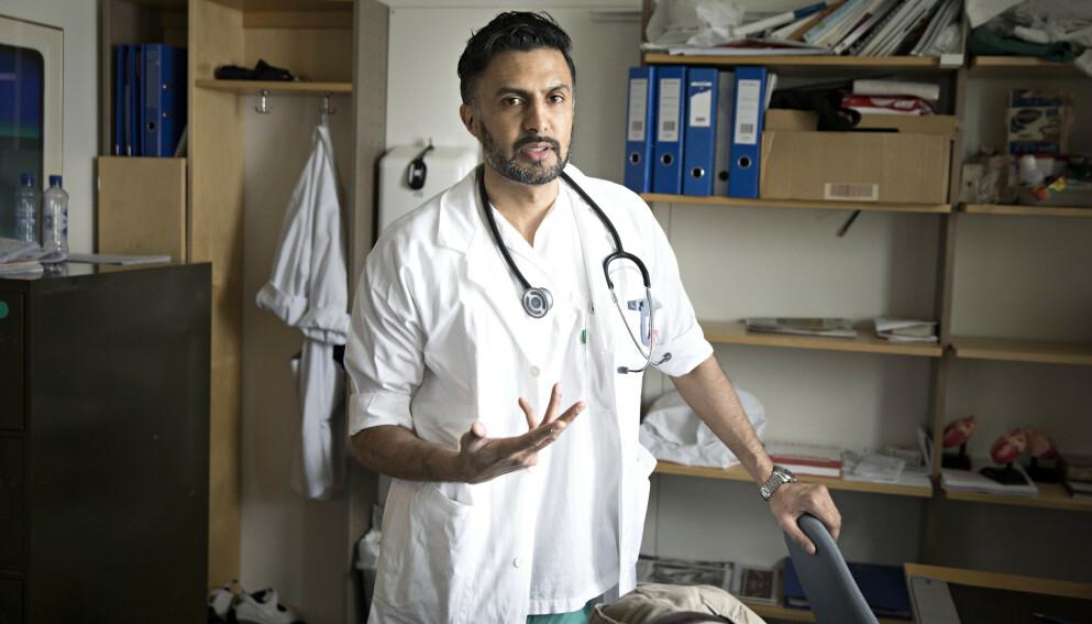 SMITTET: Kjendisleges Wasim Zahid avslører at han har blitt smittet av covid-19. Foto: Jan Tomas Espedal / Aftenposten / NTB