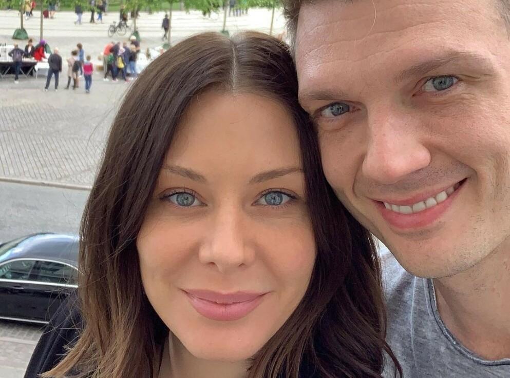 BABYLYKKE: Lauren Kitt Carter og Nick Carter ble nylig foreldre for tredje gang. Foto: Instagram