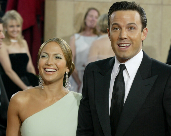 EKSPAR: Jennifer Lopez og Ben Affleck var et av Hollywoods største stjernepar. Her i 2003. Foto: Fred Prouser / Reuters / NTB