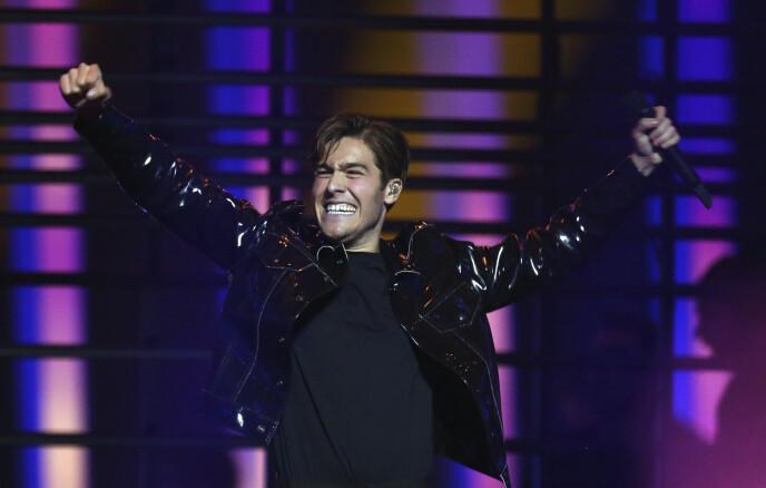 SUKSESS: Det har gått i ett for Benjamin Ingrosso siden han fikk en respektabel 7. plass for Sverige i Eurovision i 2018. Foto: Armando Franca / AP / NTB