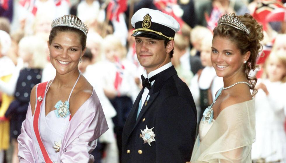 MANGE NAVN: Vi kjenner dem som kronprinsesse Victoria, prins Carl Philip og prinsesse Madeleine. Dette heter de egentlig. Foto: Ørn E. Borgen / NTB