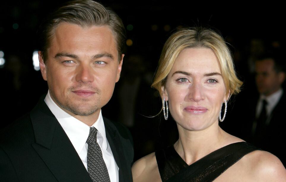FØLTE SEG MOBBET: Kate Winslet ble et hett navn i Hollywood etter medvirkningen i «Titanic». Stjernen skal imidlertid ha kjent på mobbing, og opplevde det som tøft. Her med motspiller Leonardo DiCaprio i 2009. Foto: REX/ NTB