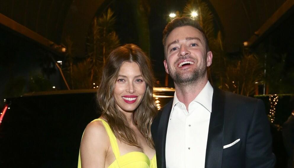 BABYLYKKE: Justin Timberlake og Jessica Biel bekrefter omsider at de har blitt tobarnsforeldre. Foto: Tommaso Boddi/AFP/NTB
