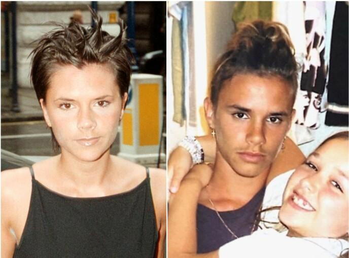 Se også: Victoria Beckham-film fra 1999. Fans tror sønnen Romeo er nesten en klone av moren. Foto: NTP / Instagram