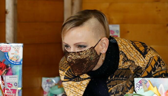 ROCKA: Fyrstinnen valgte bort bob-frisyren til fordel for en mer barbert hårsveis. Foto: Eric Gallaird / REUTERS / NTB