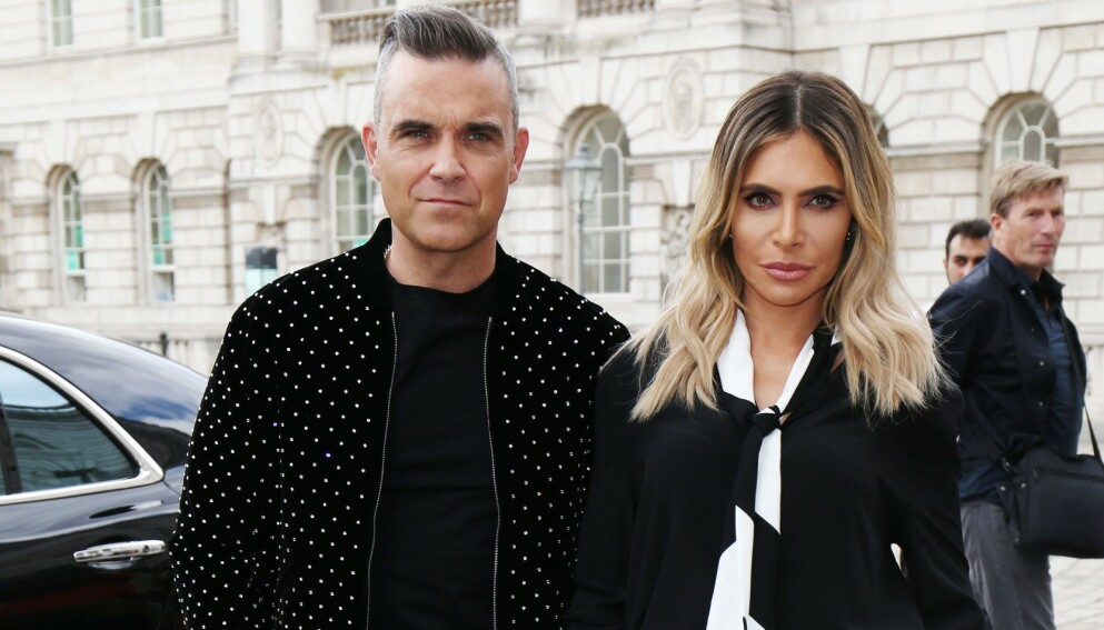 SKAL VÆRE SMITTET: Artist Robbie Williams skal være smittet av corona. Her med kona Ayda. Foto: Beretta/ REX / NTB