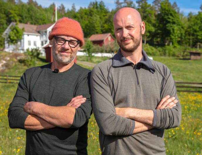 MÅTTE FORLATE GÅRDEN: I søndagens episode tapte Espen Thoresen mot sin gode venn Terje Sporsem i øksekast. Foto: Alex Iversen / TV 2