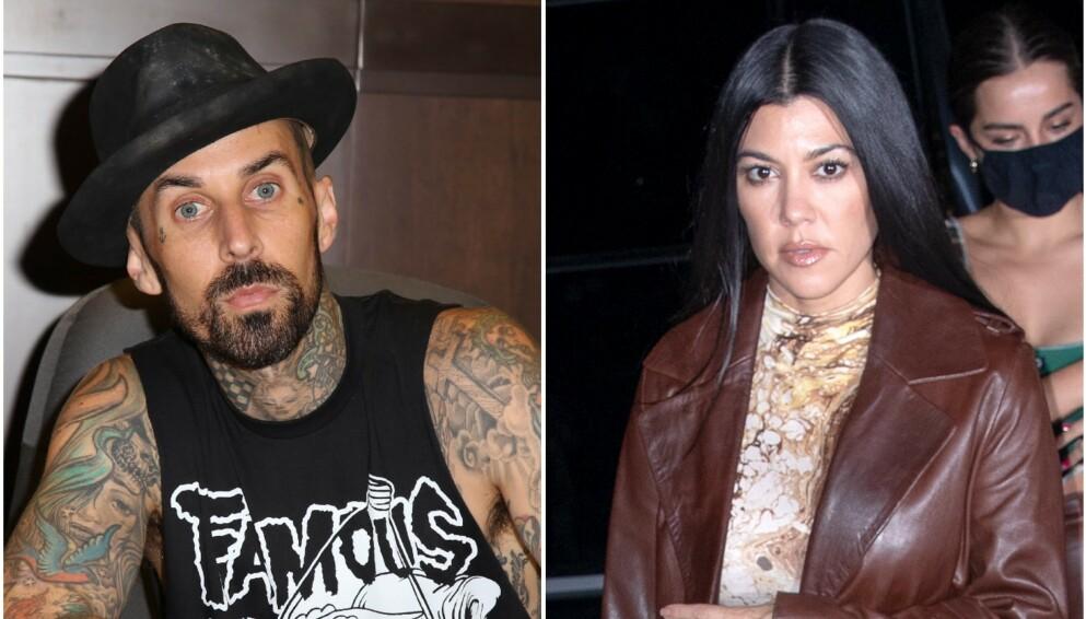 NYTT PAR? Travis Barker og Kourtney Kardashian skal være det hotteste nye Hollywood-paret ifølge amerikanske medier. Foto: Mediapunch/REX/Jackson Lee/SplashNews/NTB