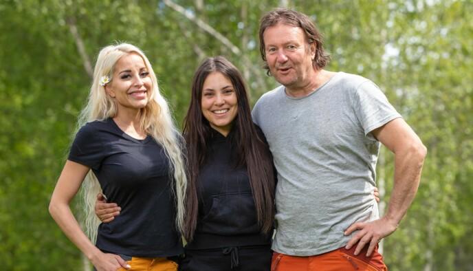 STILLE FØR STORMEN: Det startet bra, men etter hvert ble stemningen mellom Linni Meister, Mira Craig og Svein Østvik mer og mer amper. Foto: Alex Iversen / TV 2