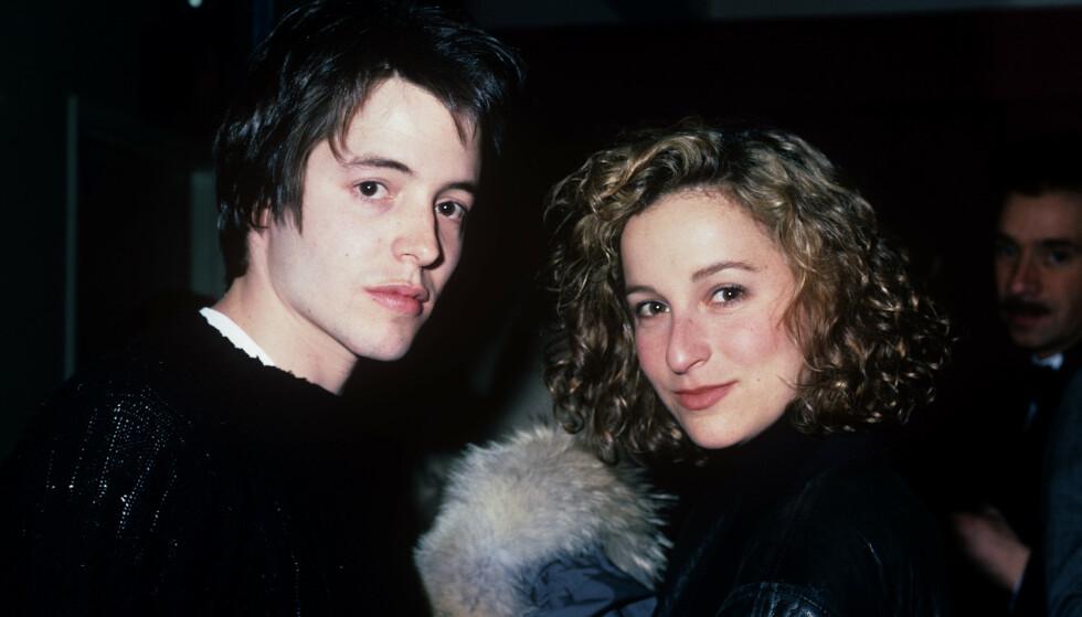 UNGE: Jennifer Grey var bare 27 år da kollisjonen skjedde, mens Matthew Broderick var 25 år. Foto: Croe/ Mediapunch/ REX/ NTB