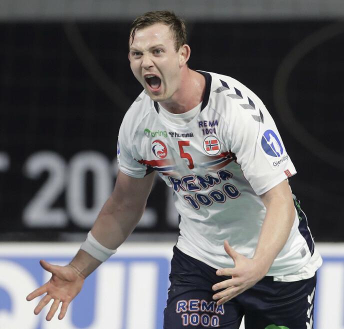 IMPONERER: Sander Sagosen har en høy stjerne, både på det norske landslaget og på klubblaget Kiel. Foto: Petr David Josek / POOL / NTB
