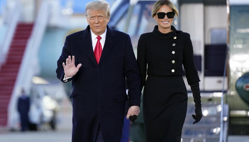 SKILSMISSE?: Det har florert rykter om at Melania Trump vil skilles fra ektemannen. Ektefellene har imidlertid til gode å uttale seg om ryktene offentlig. Foto: Manuel Balce Ceneta / AP / NTB