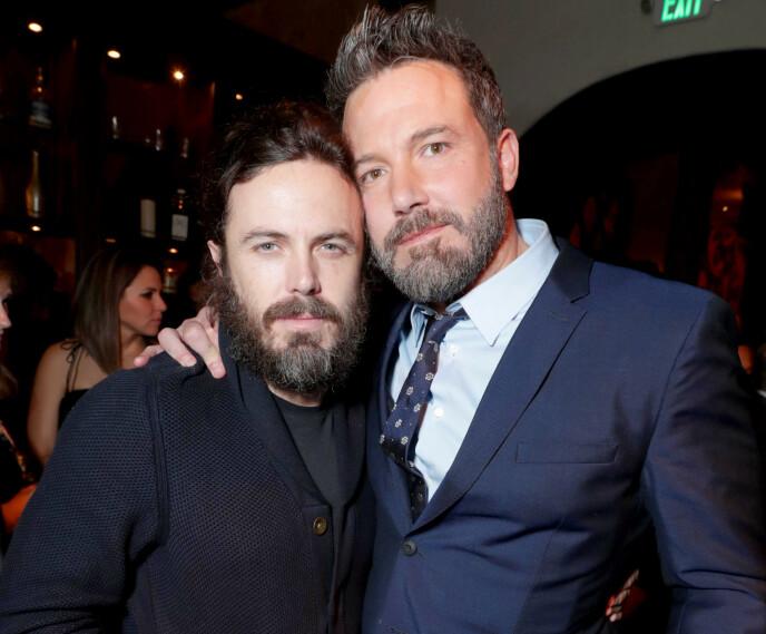 TALENTFULLE BRØDRE: Både Casey Affleck og Ben Affleck er store navn i Hollywood. Foto: Eric Charbonneau/REX/NTB