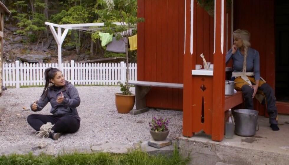 HØY TEMPERATUR: Mira Craig lufter her sin frustrasjon med Linni Meister etter å ha kranglet med Espen Thoresen. Foto: TV 2Click to add image caption