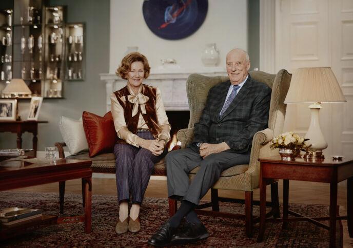 30 ÅR: Dronning Sonja og kong Harald feiret helt nylig 30 år på tronen. Foto: Jørgen Gomnæs / Det kongelige hoff / NTB