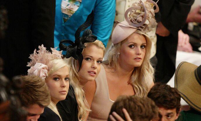 KONGELIG BRYLLUP: Amelia, Eliza og Kitty i bryllupet til prins William og hertuginne Kate i 2011. Foto: REX / Shutterstock / NTB