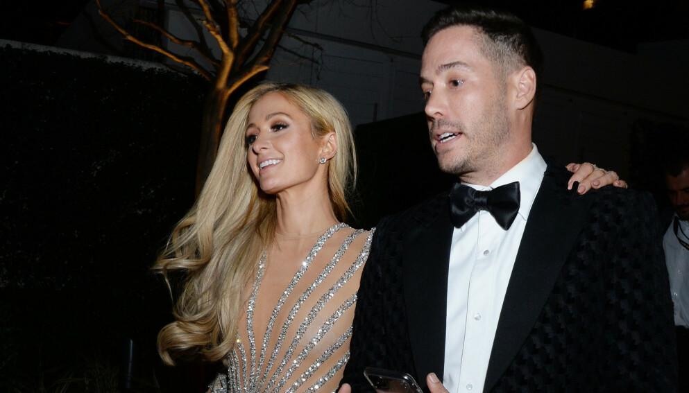 KLARE FOR BARN: Paris Hilton og kjæresten Carter Reum er klare for å stifte familie: Foto: NTB