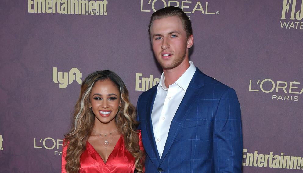 BABYLYKKE: Ifølge E! News har eksparet Vanessa Morgan og Michael Kopech blitt foreldre. Foto: Pa Photos / NTB