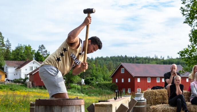 UTE: Det ble med kun noen dager på «Farmen kjendis» for Markus Bailey. Foto: Alex Iversen / TV 2