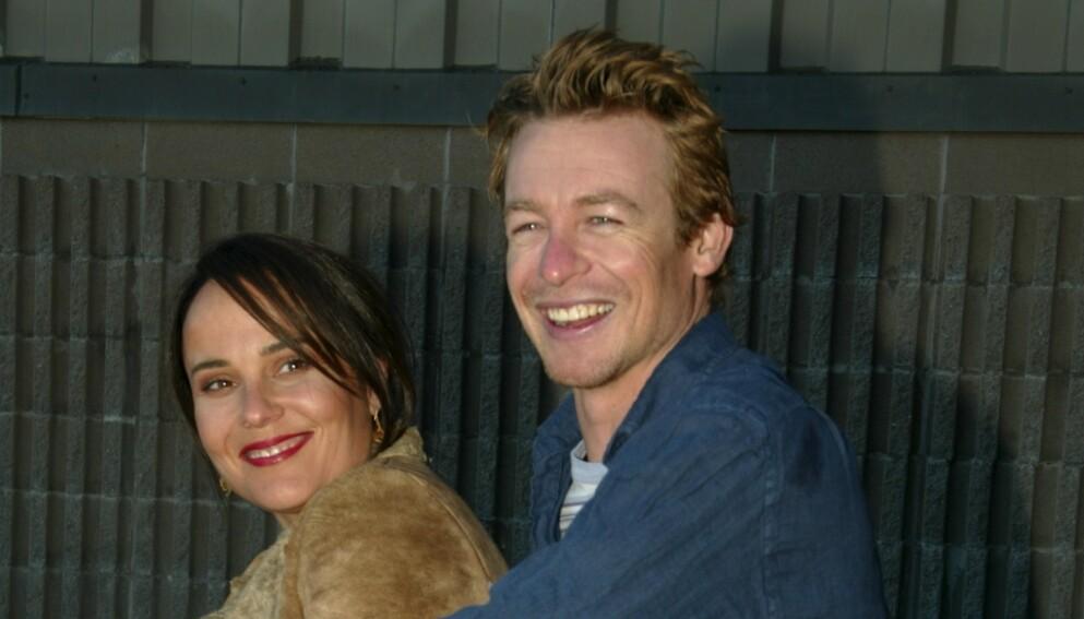 SLUTT: Etter 29 år sammen, skal ekteskapet være over for skuespilleren Simon Baker (51) og kona Rebecca Rigg (53). Foto: Matt Baron/ REX/ Shutterstock/ NTB