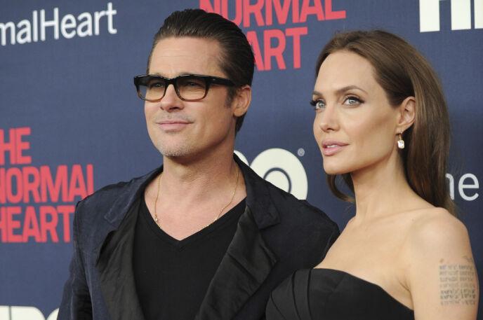 DEN GANG DA: Brad og Angelina i 2016 - samme år de slapp nyheten om bruddet. Foto: Evan Agostini / Invision / AP, File / NTB