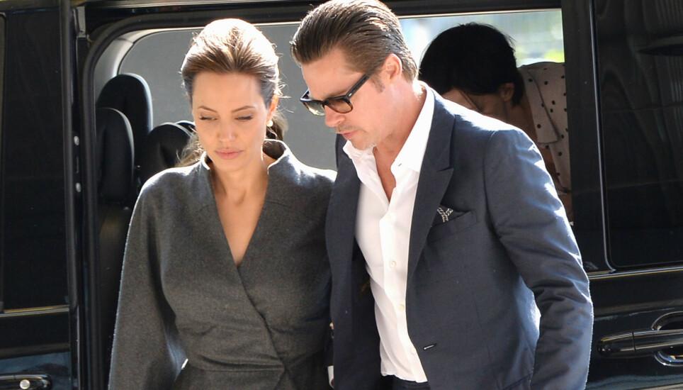POPULÆRT PAR: Angelina Jolie og Brad Pitt har nok aldri fått så mye oppmerksomhet som da det ble kjent at de skulle skilles. Nå forteller førstnevnte om de tunge årene i etterkant. Foto: Alan Davidson/ REX/ NTB