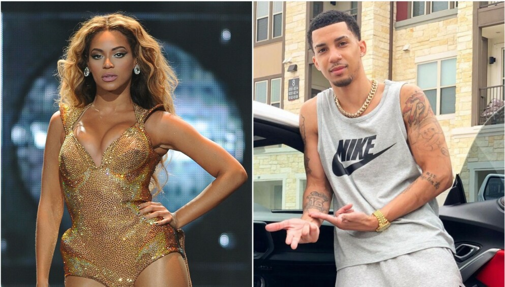DREPT: Den amerikanske rapperen Martell Derouen, som skal være Beyoncés fetter, ble funnet skutt og drept forrige uke. Foto: Larry Marano/Shutterstock/NTB og skjermdump Instagram/Iamkardone.