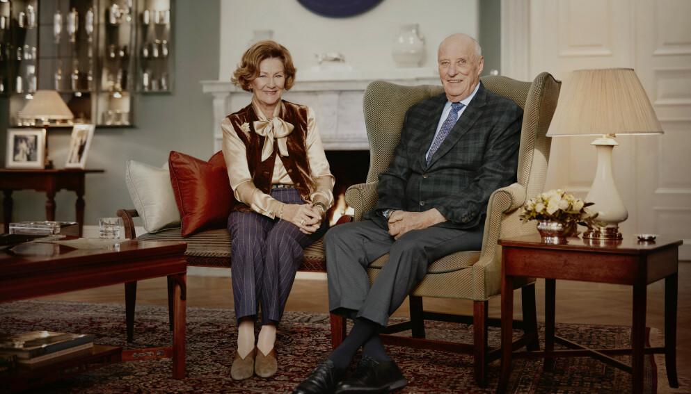 VAKSINERT: Torsdag kom nyheten om at kongeparet har fått sin andre vaksinedose. Foto: Jørgen Gomnæs / Det kongelige hoff / NTB