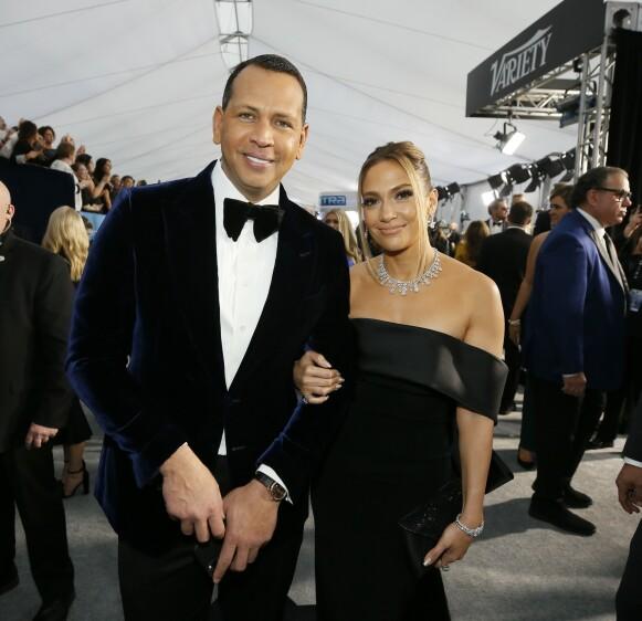 FORLOVET: Alex Rodriguez og Jennifer Lopez har vært et par siden 2017. Foto: Danny Moloshok / Reuters / NTB