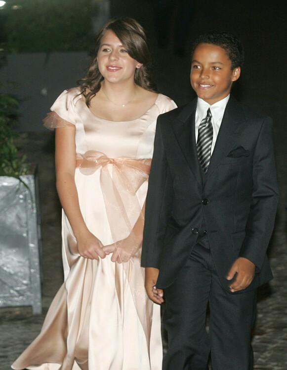 DEN GANG DA: Her er Isabella og Connor fotografert sammen i 2006 i Roma. Nå er begge to blitt voksne.Foto: AFP/ NTB