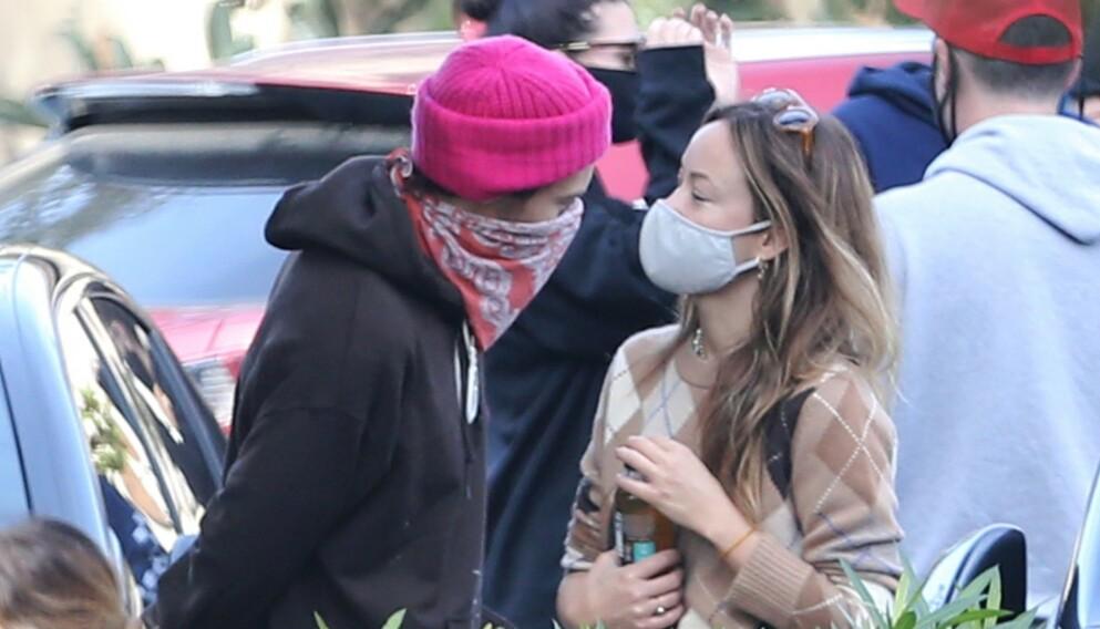 GNISTER: Nye bilder av Harry Styles og Olivia Wilde får ikke romanseryktene til å avta. Foto: Backgrid USA / NTB