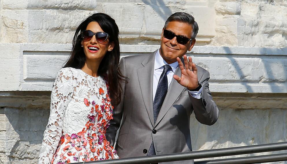 GODT GIFT: I over seks år har George Clooney vært gift med sin kjære Amal. Før han møtte henne skal han ha vært litt mer rampete. Foto: REUTERS/Stefano Rellandini/File Photo/NTB
