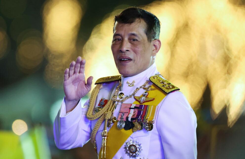 SYK: Thailandske kong Maha Vajiralongkorn Bodindradebayavarangkun er innlagt på sykehus grunnet pusteproblemer. Her er han avbildet i 2020. Foto: Athit Perawongmetha / Reuters / NTB