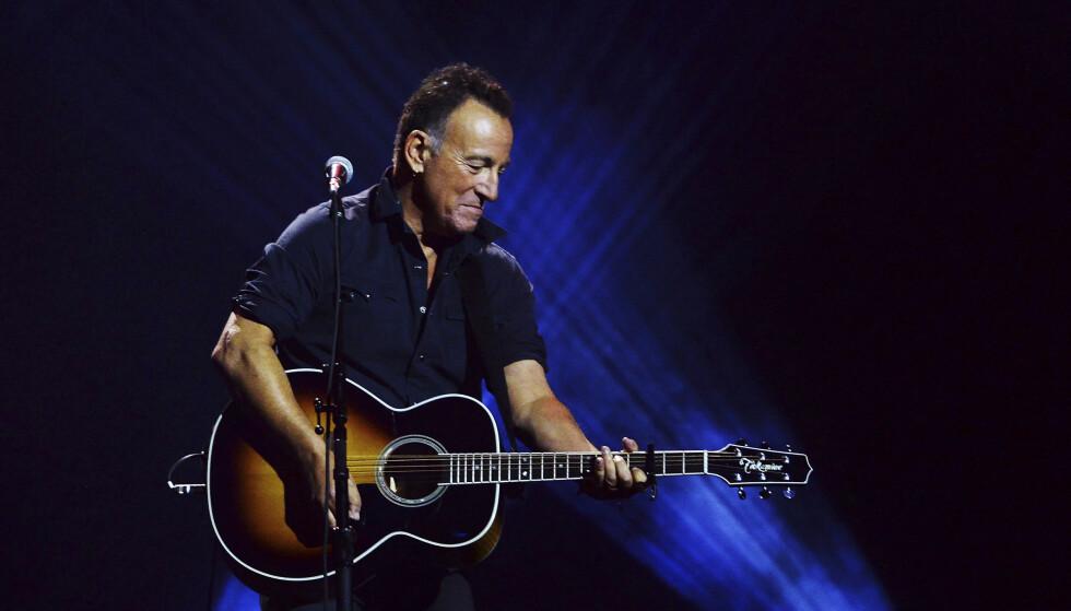 ARTIST: Slik er man vandt med å se Bruce Springsteen på scenen. Foto: Nathan Denette/The Canadian Press/NTB