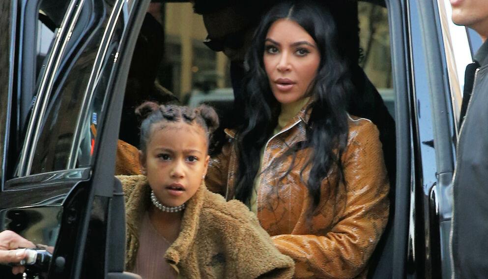 SER RØDT: Kim Kardashian holdt ikke igjen da følgerne hennes kritiserte datteren, North West. Foto: Splash News/ NTB