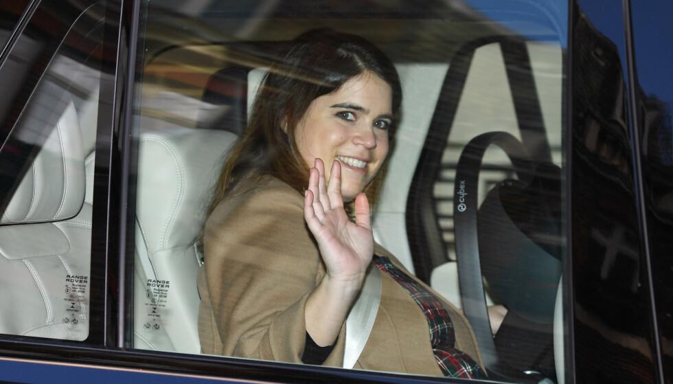 BRØT TRADISJON: Da prinsesse Eugenie ble mor for første gang tidligere denne uka, skjedde annonseringen på en litt utradisjonell måte. Foto: Beretta Sims / Shutterstock / NTB