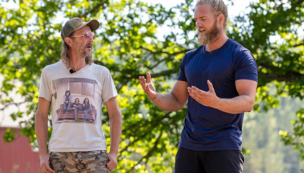 STILLE FØR STORMEN: Thomas Felberg og Lasse Matberg skulle egentlig møtes i tvekamp søndag. Den kampen ble det ikke noe av. Foto: Alex Iversen / TV 2