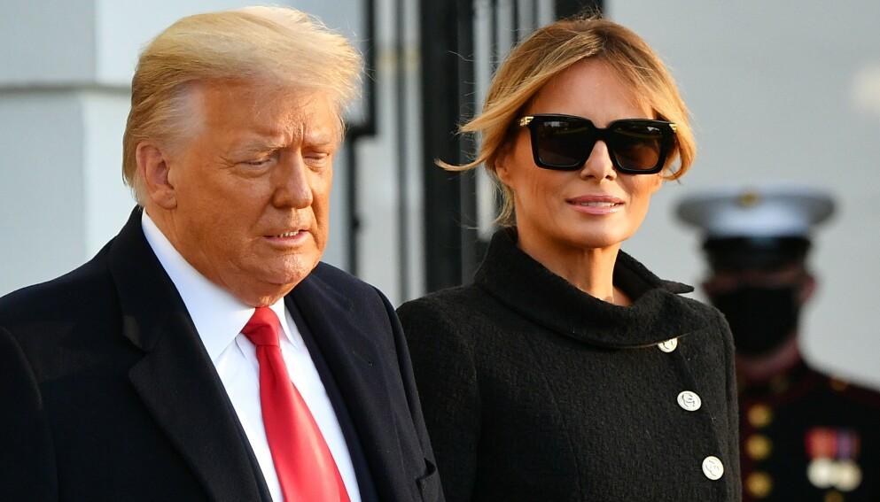 HARDT UT: USAs tidligere førstedame Melania Trump mener det spres falskt sladder om henne. Foto: Mandel Ngan / AFP / NTB