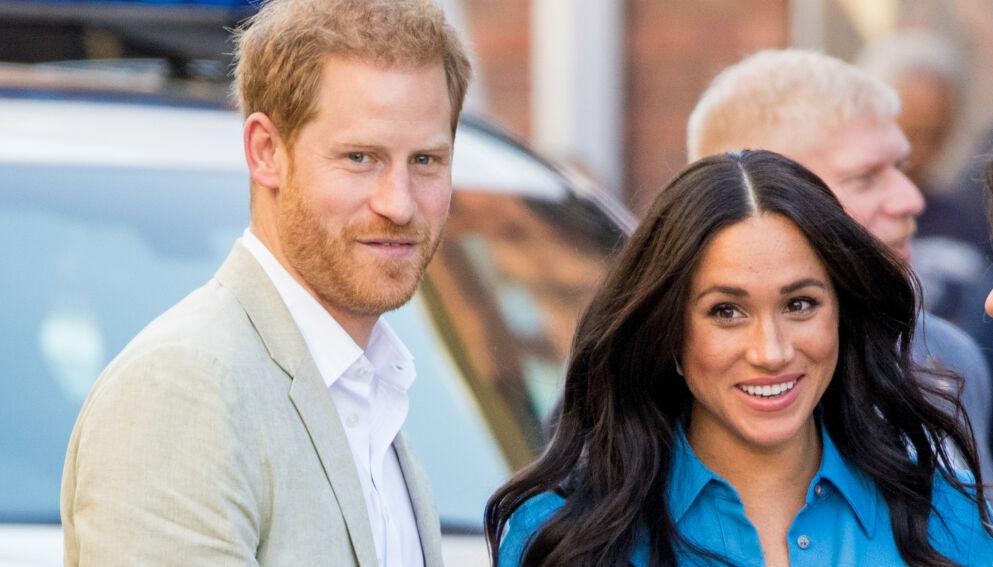 VENTER BARN: Hertuginne Meghan er gravid igjen. Dermed kan hun ig prins Harry glede seg til å bli tobarnsforeldre. Foto: Splash News/ NTB