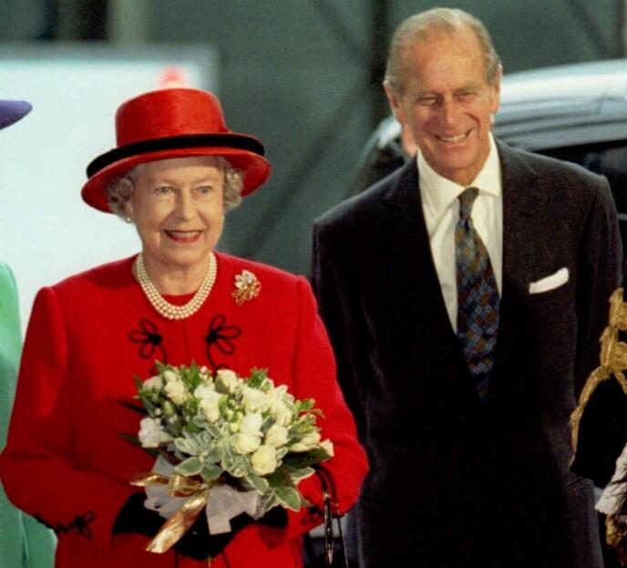 PENSJONIST: Dronning Elizabeth og ektemannen i 1997 - 20 år før sistnevnte pensjonerte seg fra sine kongelige plikter. Foto: NTB
