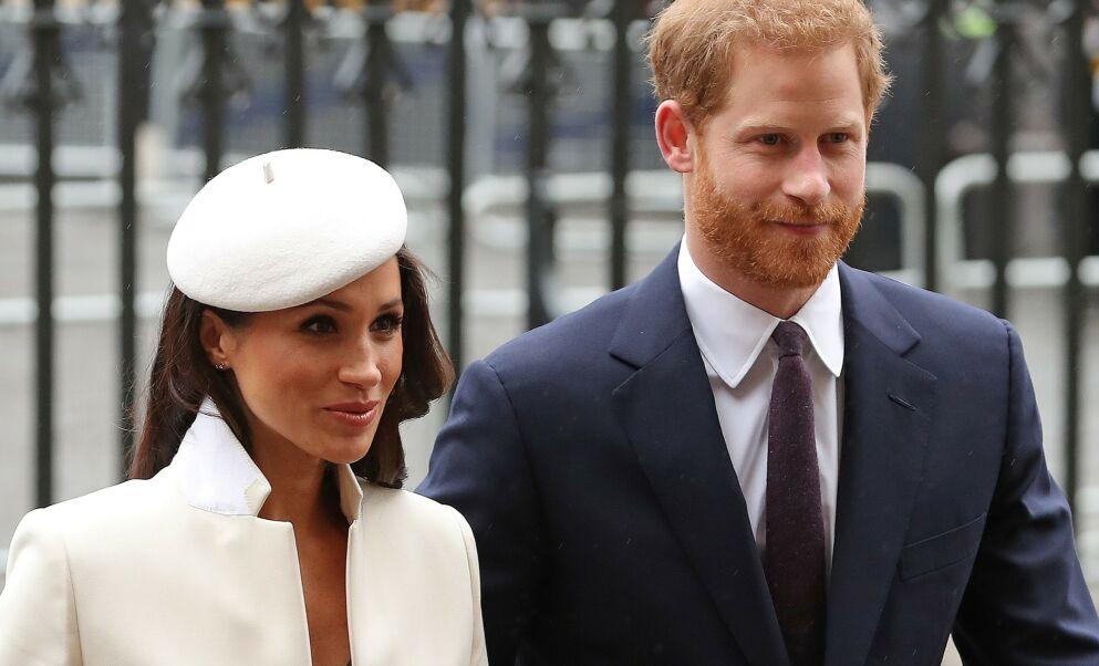 KOMMENDE FAMILIEFORØKELSE: Hertuginne Meghan og prins Harry venter sitt andre barn. Bildet som fulgte kunngjøringen tråkker derimot enkelte på tærne. Foto: Daniel Leal-Olivas/ AFP/ NTB