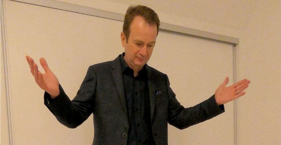 Professor Jakob Stoustrup deler sin oppskrift på den effektive vektnedgangen . Foto: Privat