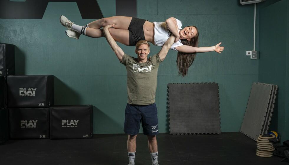 DUO: Raylee og kjæresten Glenn er mye sammen på treningssenteret der begge arbeider. Foto: Espen Solli / Se og Hør