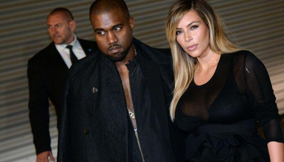 SKILLES: Etter sju år skilles Kanye West og Kim Kardashian. Foto: AFP / NTB