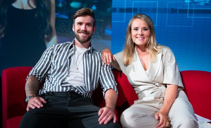 KJENT DUO: Blipp og Olafsen har ledet programmet sammen siden 2018. Nå er talkshowets framtid enn så lenge usikker. Foto: Espen Solli / TV 2